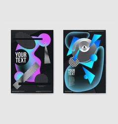 abstract dark futuristic trendy posters vector image