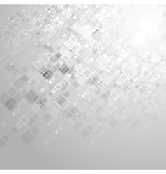 Abstract tech grey geometric squares background vector