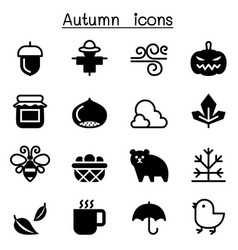 Autumn fall icon set vector