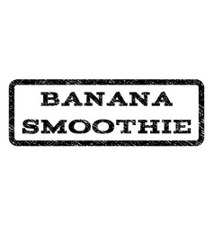Banana smoothie watermark stamp vector