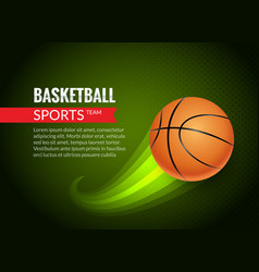 basketball poster sport flyer basketball vector image