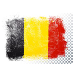 belgium flag texture on transparent background vector image