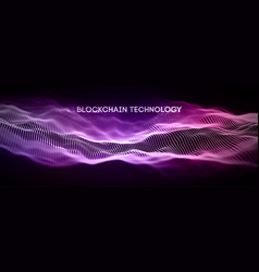 blockchain technology background cryptocurrency vector image