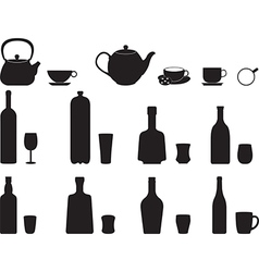 Bottles with specific glasses vector image
