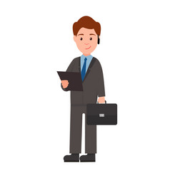 businessman with laptop poster vector image