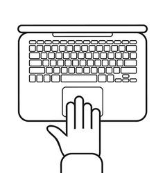 Cartoon laptop design vector
