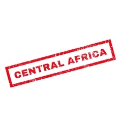 Central Africa Rubber Stamp vector