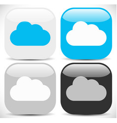 cloud icons in different colors vector image