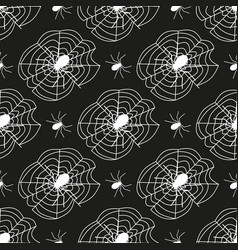 cobweb seamless pattern background spider web vector image