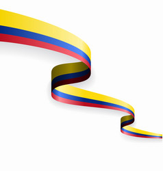 colombian flag wavy abstract background vector image