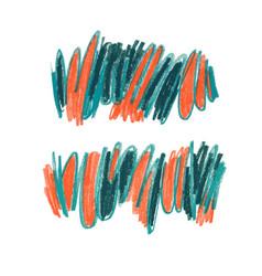 crayon scrawl hand drawn set vector image