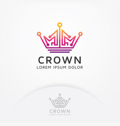 crown technology logo vector image