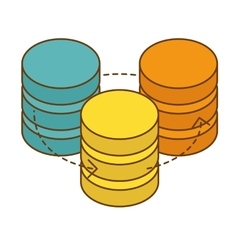 Database hosting icon image design vector