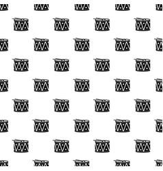 Drum and drumsticks pattern vector