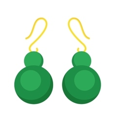 Earrings beautiful accessory isolated vector image