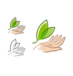 Ecology environment logo natural or organic vector