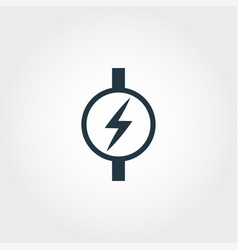 Electric meter icon from measurement icons vector