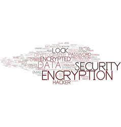 encryption word cloud concept vector image