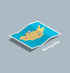 Explore mongolia maps with isometric style and vector
