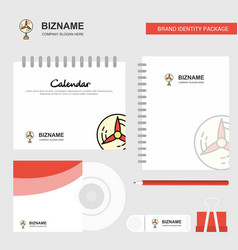 fan logo calendar template cd cover diary and usb vector image