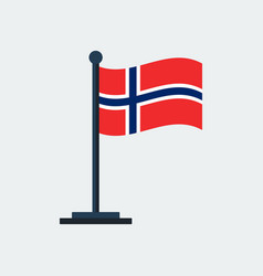 flag of norwayflag stand vector image