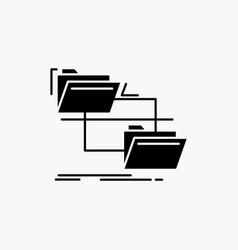 Folder file management move copy glyph icon vector