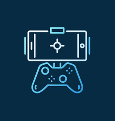 gamepad with phone concept colored outline vector image