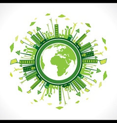 go green or save earth background concept vector image
