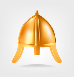 gold helmet golden king royal helmet vector image