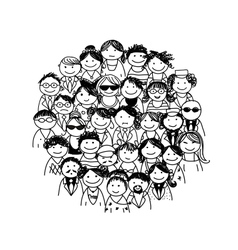Group of people for your design vector