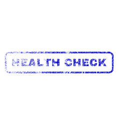 Health check rubber stamp vector