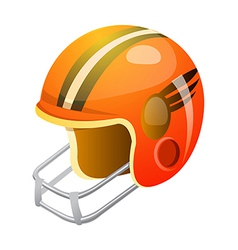 Icon football helmet vector