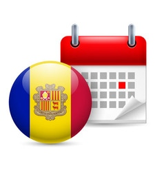 Icon of national day in andorra vector image