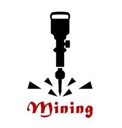 Jackhammer or pneumatic drill tool vector