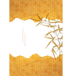 japanese background with gold texture bamboo vector image