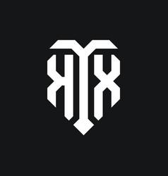 Kx logo monogram design template vector