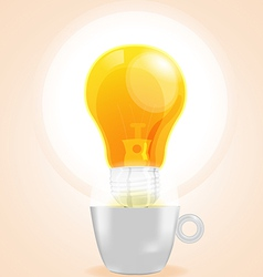 Lamp cup idea fresh business coffee vector image vector image