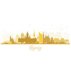 Leipzig germany city skyline silhouette with vector