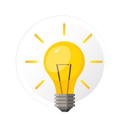 light bulb with rays shine vector image