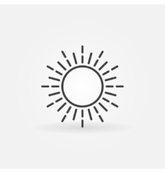 Linear sun logo vector