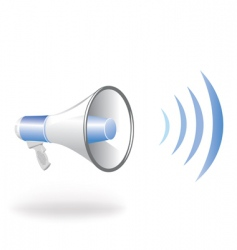 loudspeaker vector image