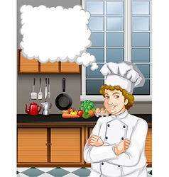 Male chef in the kitchen vector image