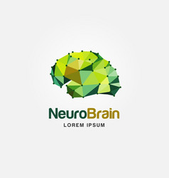 modern colorful brain logo design vector image