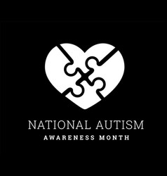 national autism awareness month vector image