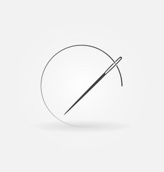 Needle and thread icon or design element vector