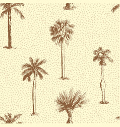 palm tree leaf seamless pattern vector image