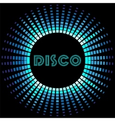 Retro disco background with soundwave frame vector