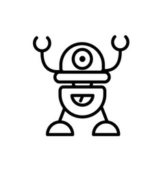Robot cybernetic technology character artificial vector