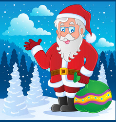 santa claus thematic image 4 vector image