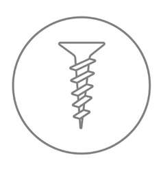 Screw line icon vector